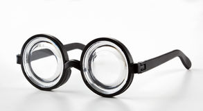 Black Round Bottle Glasses Royalty Free Stock Image