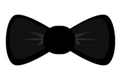 Black round bowtie. Black bowtie  illustration flat icon style Royalty Free Stock Image