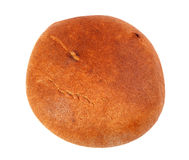 Black round bread isolated on a white Royalty Free Stock Photography