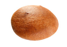 Black round bread isolated on a white Stock Images