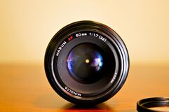 Black Round Camera Lens Royalty Free Stock Image