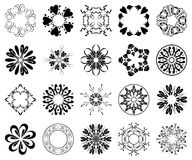 Black round vector design elements Royalty Free Stock Photography
