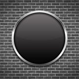 Black Round Frame Stock Photography