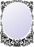 Black round frame illustration Stock Photo