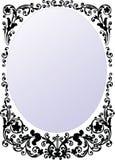 Black round frame illustration Stock Photo