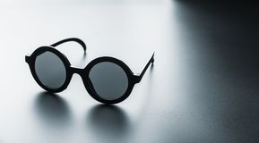 Black round glasses Stock Images