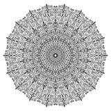 Black Round Lace Ornament Pattern Royalty Free Stock Images