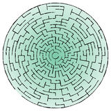 Black round maze Royalty Free Stock Images
