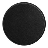 Black round metal plate Royalty Free Stock Photography