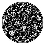 Black round ornament vector Stock Photo