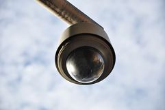 Black round shape CCTV Stock Photos