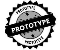 Black round stamp with PROTOTYPE text. Stock Image