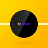 Black round text frame template on bright yellow background in modern corporate style. EPS10 Stock Image
