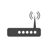 Black Router icon. Router icon, simple vector icon Royalty Free Illustration