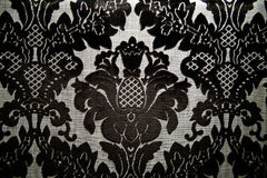 Black royal motif Royalty Free Stock Image