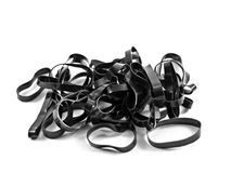 Black Rubber Band on Isolate Blackground Royalty Free Stock Photography