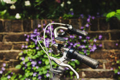 Black Rubber Bike Grip Handle Royalty Free Stock Photos