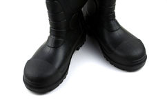 Black rubber boots Royalty Free Stock Photos