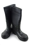 Black rubber boots Stock Photography