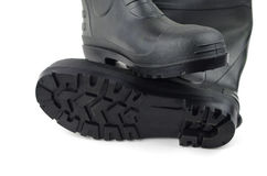 Black rubber boots Royalty Free Stock Image
