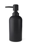 Black rubber bottle for liquid soap with dispenser pump Stock Photography