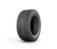 Black rubber car tire Stock Photos