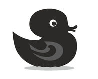 Black rubber duck Stock Image