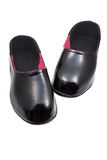 Black rubber galoshes Stock Image