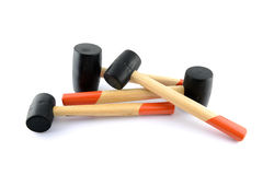 Black rubber head hammer stand royalty free stock image