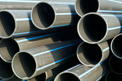 Black rubber hose or pipe Royalty Free Stock Photos