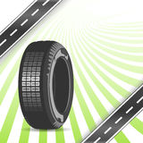 Black rubber tire Stock Photography