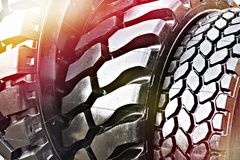 Black rubber tire background stock images