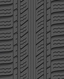 Vector black rubber tyre Stock Images