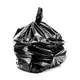 Black Rubbish Bag on white Royalty Free Stock Photo