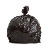 Black Rubbish Bag Stock Photo