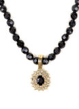 Black Ruby necklace Stock Image
