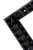 Black ruler. Close-up photo of black engineering ruler Royalty Free Stock Photography