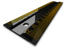 Black ruler, perspective view Royalty Free Stock Photo