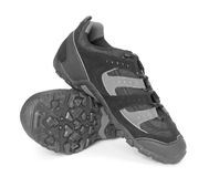 Black running shoes isolated Stock Photos