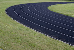 Black running track Stock Image