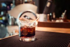Black russian cocktail Royalty Free Stock Photo