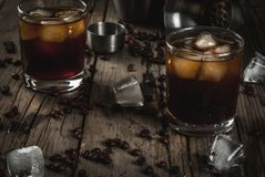 Black Russian cocktail with vodka and coffee liquor Royalty Free Stock Photography