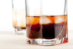 Black russian and white russian cocktails Stock Image