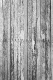 Black rustic woodden board with knots and nail holes, vintage  b Royalty Free Stock Photography