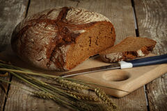Black rye-bread Royalty Free Stock Images