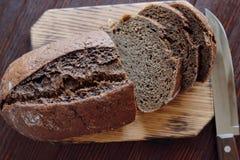Black rye bread homemade fresh baking tasty Stock Photography