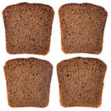 Black rye bread slice Stock Photo