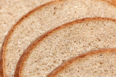 Black rye bread slices Royalty Free Stock Image