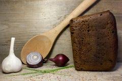 Black rye bread Stock Photos
