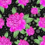 black rysunku autora tła kwiaty, Fotografia Stock